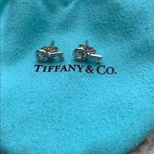 Tiffany & Co. Key Earrings Sterling Silver